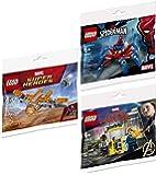 LEGO Blast Team up Hero Ship Avengers Brick Set Bundled with + Super Infinity Wars Ship Galaxy Polybag 30452: Captain Marvel & Nick Fury 30453 + Spider-Man 30451 Crawler 3 Items Mini Sets