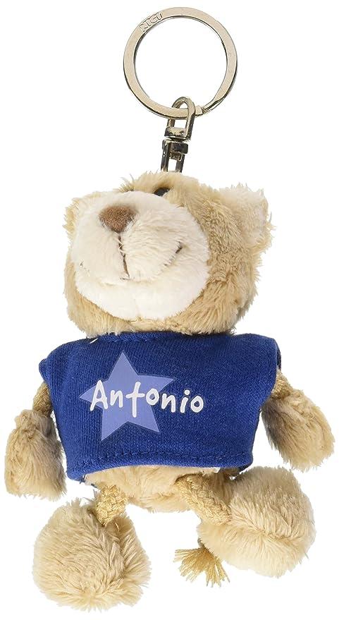 NICI n15855 - Llavero oso con camiseta Antonio, Azul: Amazon ...