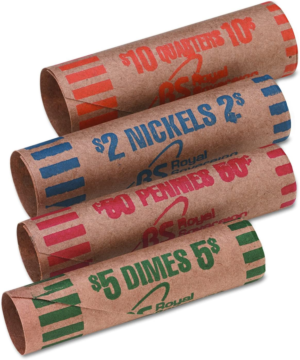 25 NICKELS Paper Coin Wrappers NICKEL $2 Coin Holders Sleeves Roll