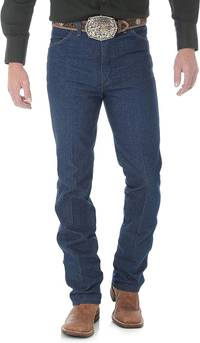 Wrangler Men's 0936 Cowboy Cut Slim Fit Jean, Rigid Indigo, 27W x 32L at Amazon Men's Clothing store