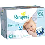 Pampers Swaddlers Sensitive Diapers Size 2, 132 Count