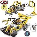 PinSpace 4-in-1 Electric Race car Building Set (216 Pieces)