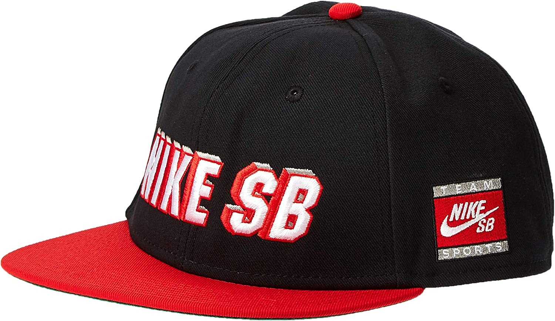 Nike U Nk Pro Cap SB Gorra, Unisex Adulto, Black University Red ...