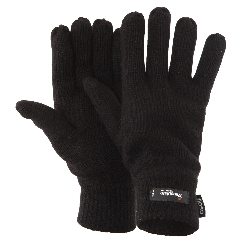 Floso - Guantes de punto Thinsulate Invierno/Frio para hombre/caballero (3M 40gr)