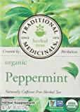 Single Herb-Organic Peppermint Tea Traditional Medicinals 16 Bag (Pack of 1)