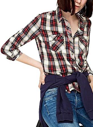 Pepe Jeans Camisa Amalia XL Rojo: Amazon.es: Ropa y accesorios