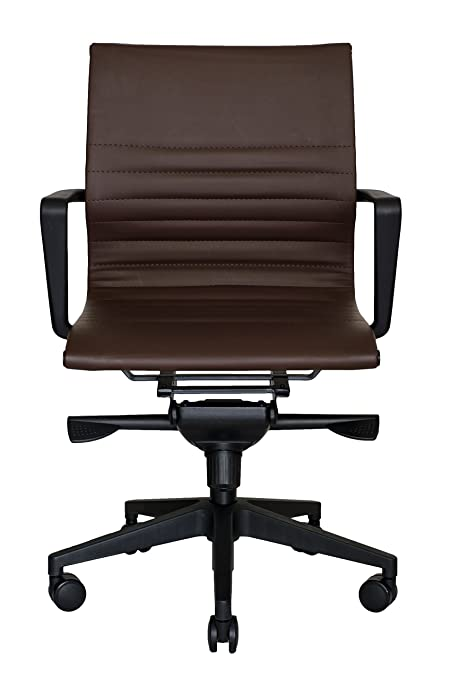 a495f662537a Amazon.com: WOBI OFFICE Bradley Lowback Chair, Brown Leather ...