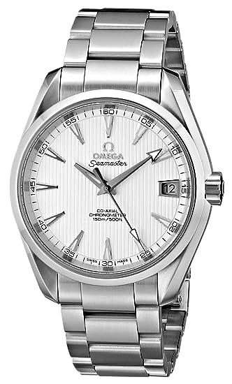 Omega de hombre 231.10.39.21.02.001 Seamaster Aqua Terra reloj de acero inoxidable: Omega: Amazon.es: Relojes