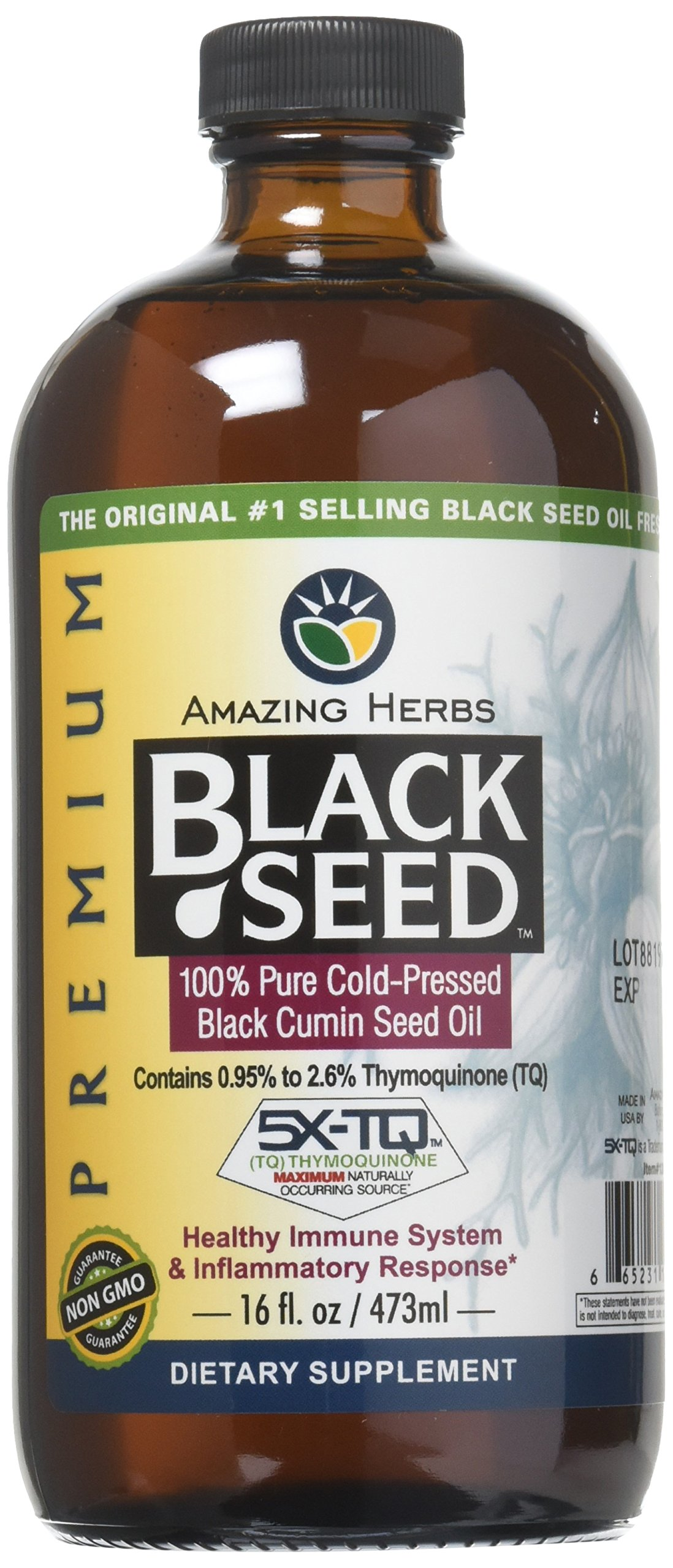 Amazing Herbs Cold-Pressed Black Seed Oil - 16oz by Amazing Herbs