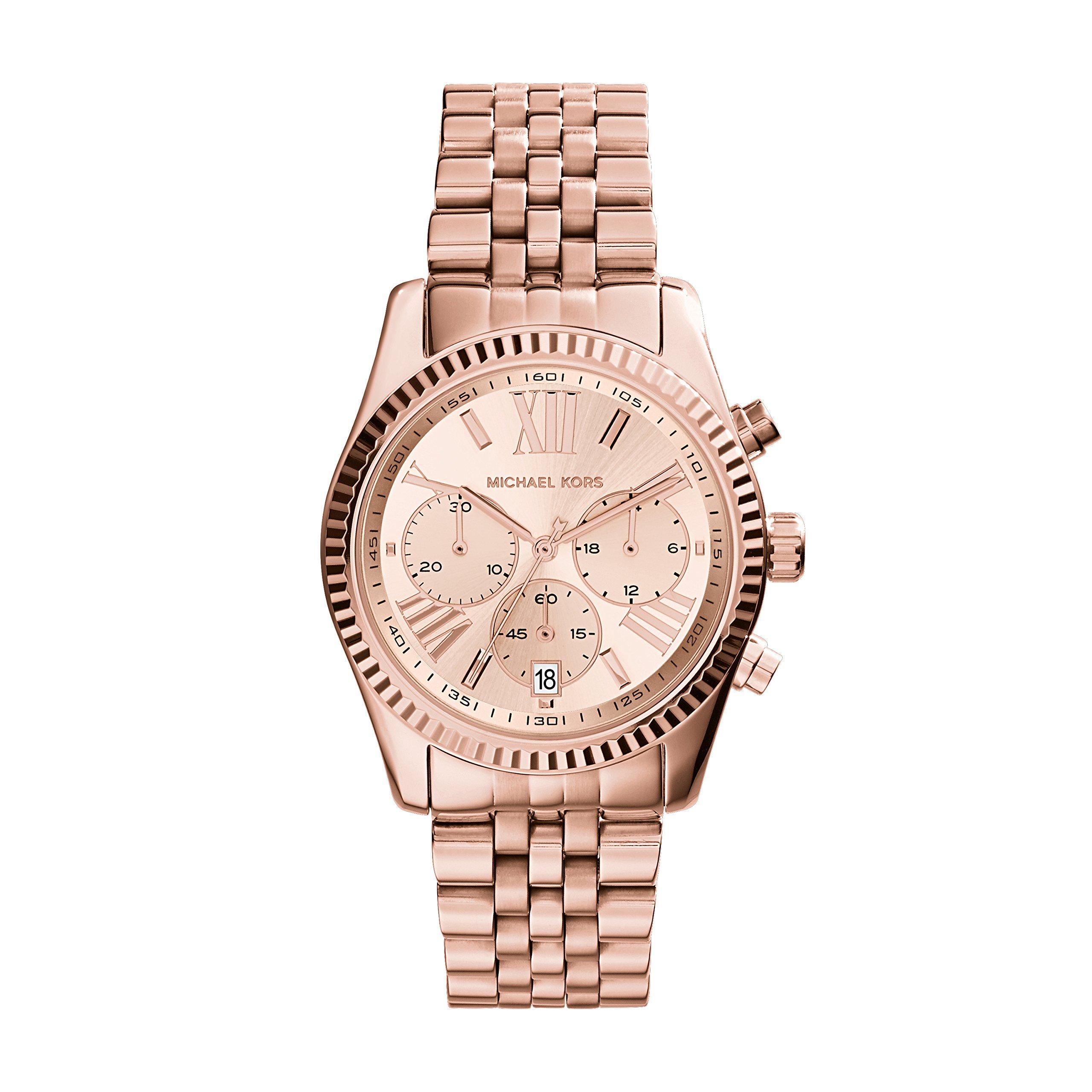 Michael Kors Women's MK5569 Lexington Rose Gold-Tone Stainless Steel Watch by Michael Kors