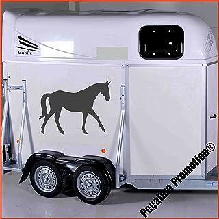 trabendes Pferd Modell 3 Aufkleber Anhänger Pferd Anhänger ca. 60cm