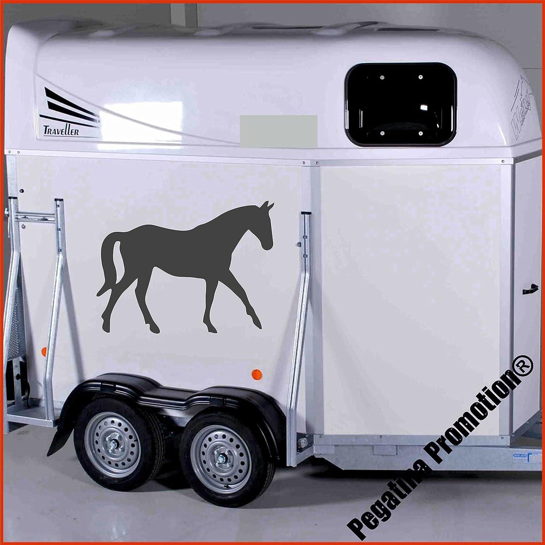 trabendes Pferd Modell 3 Aufkleber Anhänger Pferd Anhänger ca. 60cm Pegatina Promotion ®