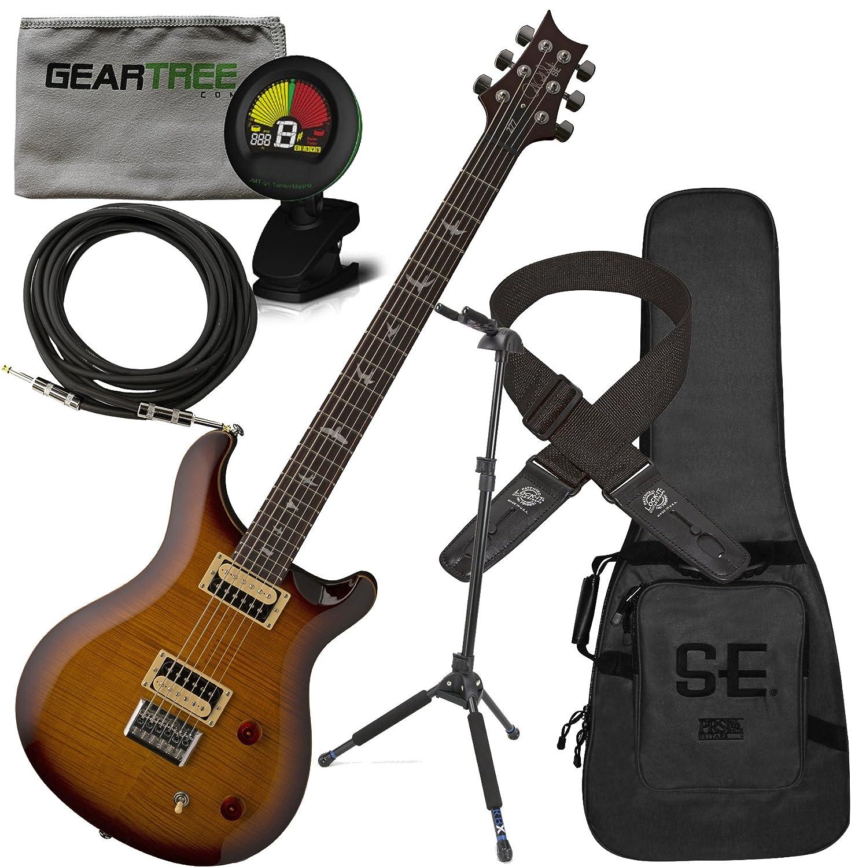 PRS SE 277 barítono guitarra eléctrica (Sunburst) W/gamuza de funda, geartree, bloqueo de soporte, sintonizador, cable, y Lock-It correa: Amazon.es: ...