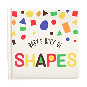 Kate & Milo Baby Board Book of Shapes, Shapes and Food, Toddler or Baby Nursery Learning Book
