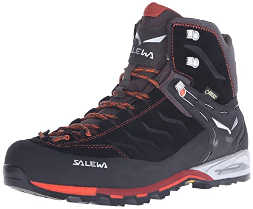 Salewa Men's Mountain Trainer Mid GTX Alpine Approach Shoe, Black/Indigo, 13 M US
