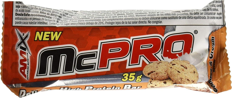 Amix Mcpro Protein Bar 24*35 Gr Cookie-Crema 840 g: Amazon.es ...