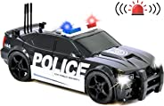Number 1 in Gadgets Friction Powered Police Car Toy Rescue Vehicle with Lights and Siren Sounds for Boys Toddlers and Kids,