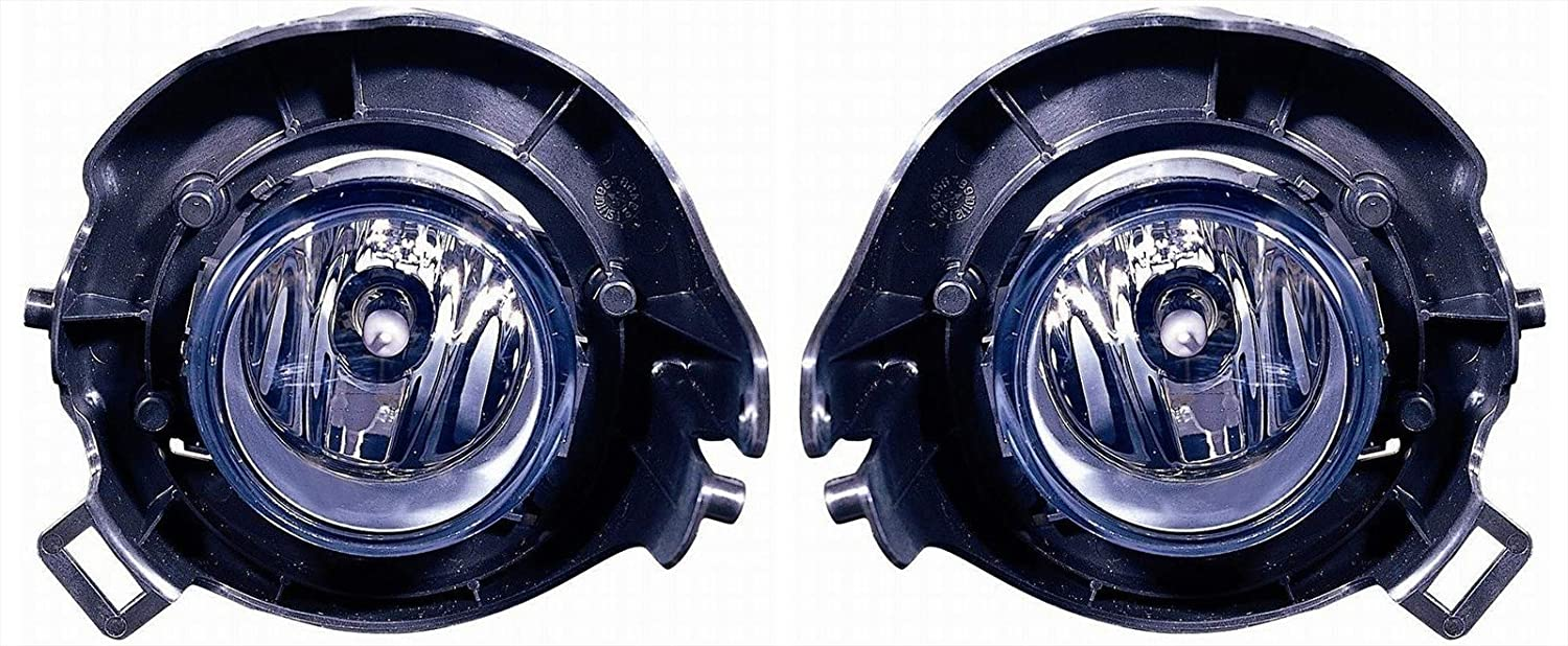 Nissan Frontier Replacement Fog Light Assembly (Chrome Bumper) - 1-Pair by AutoLightsBulbs
