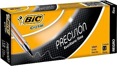 BIC Bol. Cristal Precisión Negro 12 piezas.