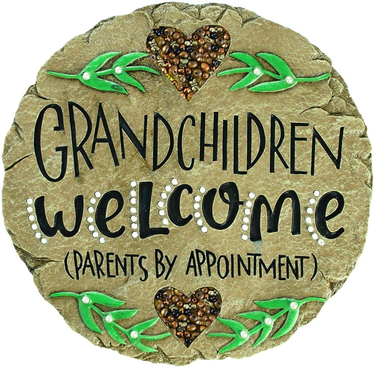 Carson Beadworks Grandchildren Welcome Garden Stone (Brown)