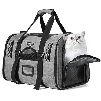 TOURIT Transportín para Mascotas para Gato Perro Ligero Airline Aprobado Suave al Hombro Bolsas de Viaje con Dos Alfombrillas de Forro Polar: Amazon.es: ...