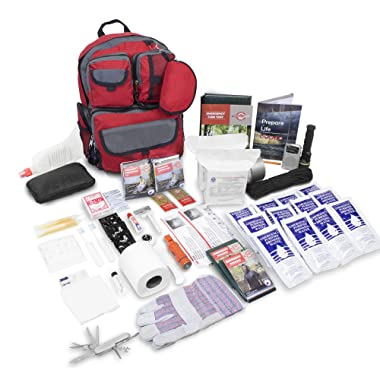 Emergency Zone Family Prep Survival Kit 2 Person Emergency Go Bag 72 Hour Kit. Now Includes a BONUS Tritan Bottle & Water Purification Straw! Be Prepared for Disasters. Great Holiday Gift
