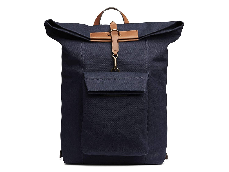 (ミスモ) Mismo Men`s ESCAPE Backpack - 自転車バックパック MIDNIGHT BLUE メンズスプリンターバックパック - カモジャカード (並行輸入品) B07H2FW78P MIDNIGHT BLUE/CUOIO One Size