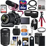 Canon EOS 80D Wi-Fi Digital SLR Camera & 18-135mm IS Video Creator Kit + 55-250mm IS Lens + PZ-E1 Adapter + Mic + 2 Cards + Battery + Tripod + Case Kit