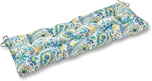 South Pine Porch AM5812-BALTIC Baltic Paisley 51-inch Outdoor Bench Cushion