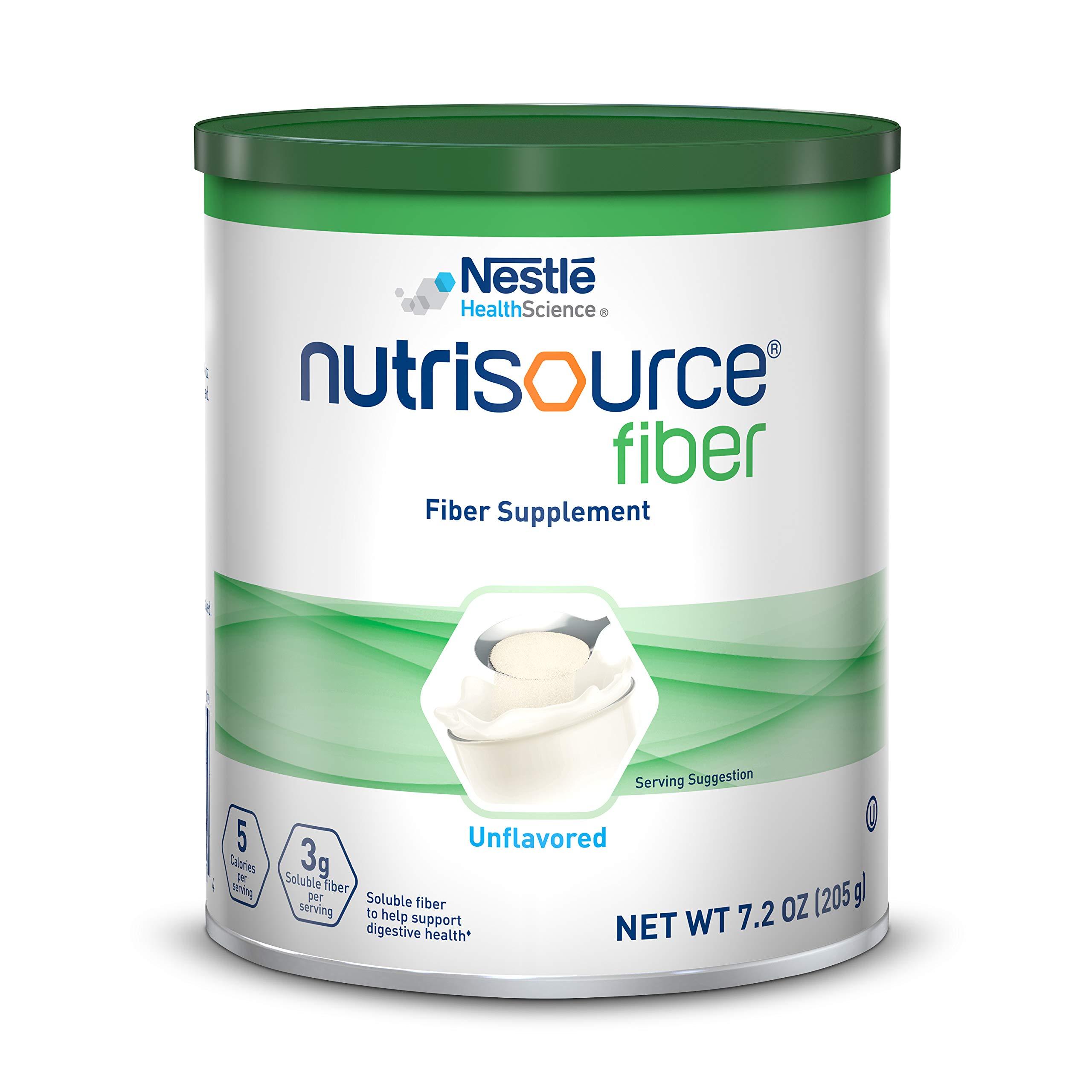 NutriSource Fiber Supplement Powder, Unflavored, 7.2 oz Canister, (Pack of 4) by Nutrisource