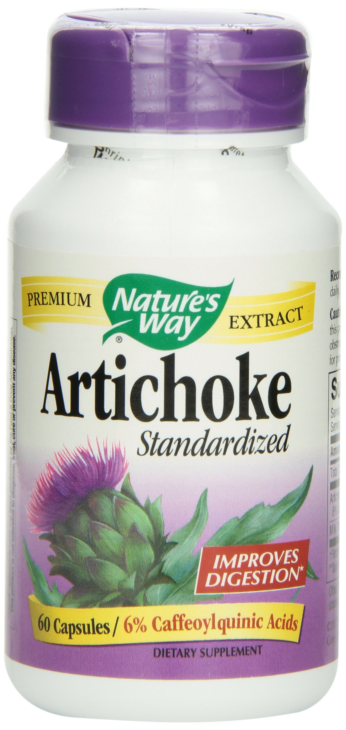 Natures Way, Artichoke Standardized Extract, 60 Capsules