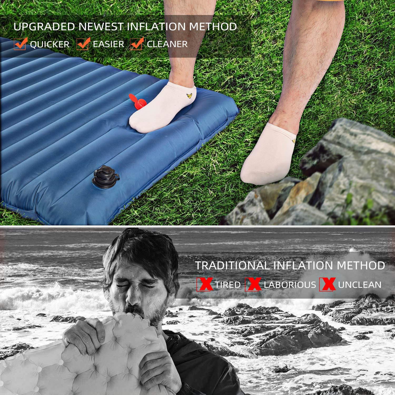 Amazon.com: Lamodee - Colchón hinchable para camping ...