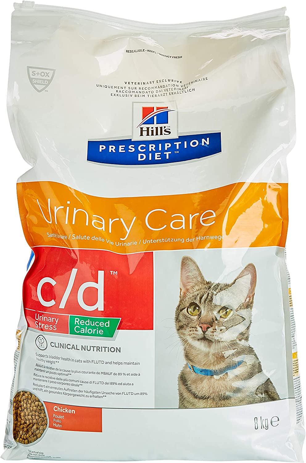Hill's C-54548 Diet Feline C/D Reduce Stress - 8 Kg