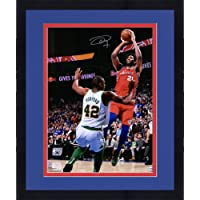 "Framed Joel Embiid Philadelphia 76ers Autographed 16"" x 20"" vs. Al Horford Photograph - Fanatics Authentic Certified photo"
