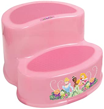 Outstanding Amazon Com Disney Princess 2 Step Stool Pink Toilet Pabps2019 Chair Design Images Pabps2019Com