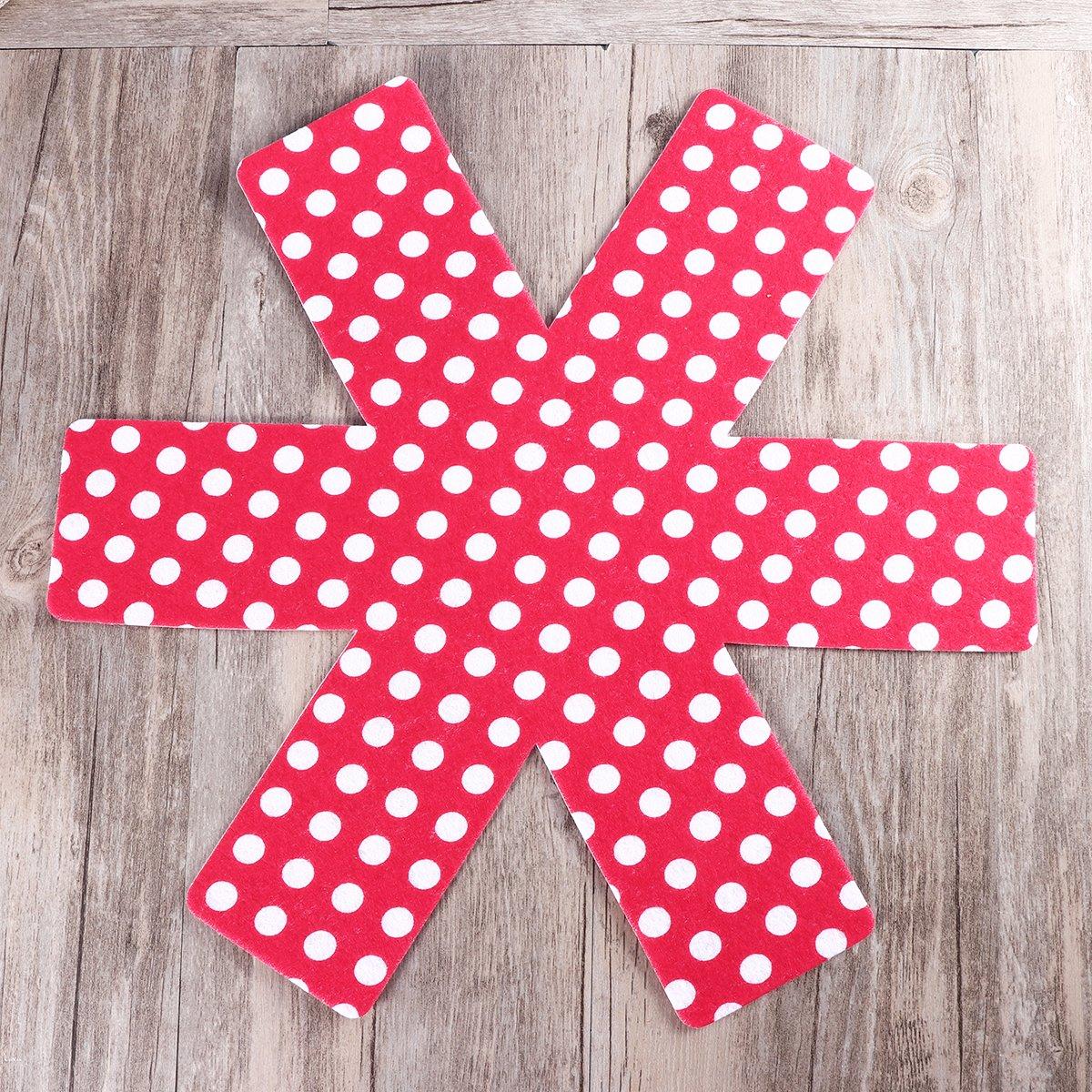 rojo brillante BESTOMZ 5pcs Protectores de Pan Pot,Premium Divider Pads para evitar el rayado separado y proteger superficies para utensilios de cocina