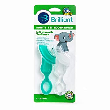 Baby Buddy Baby/'s 1st Toothbrush Bei/ßhilfe