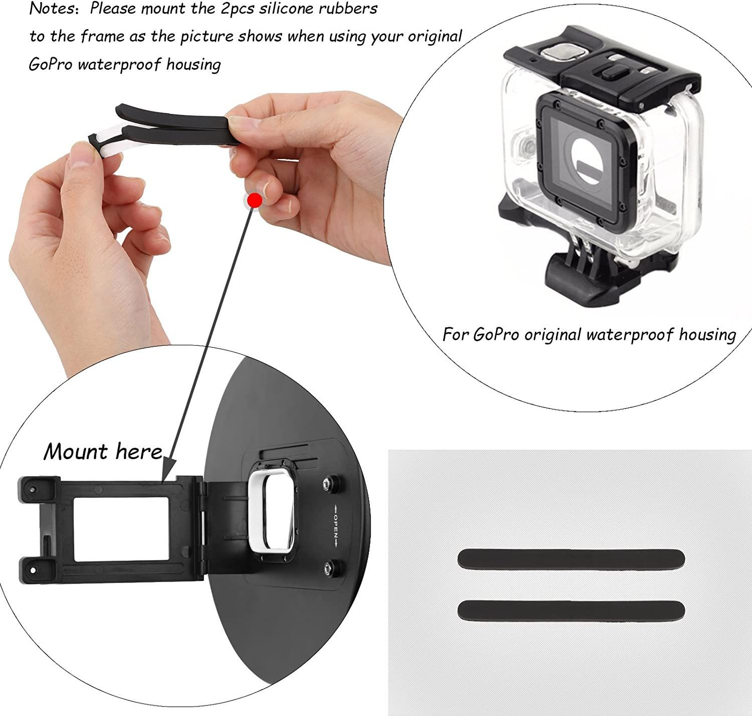 SHOOT Aluminium Alloy Underwater Video Light Stabilizer Tray for GoPro OSMO and Any Other Camera with 1//4 inch Screw Hole