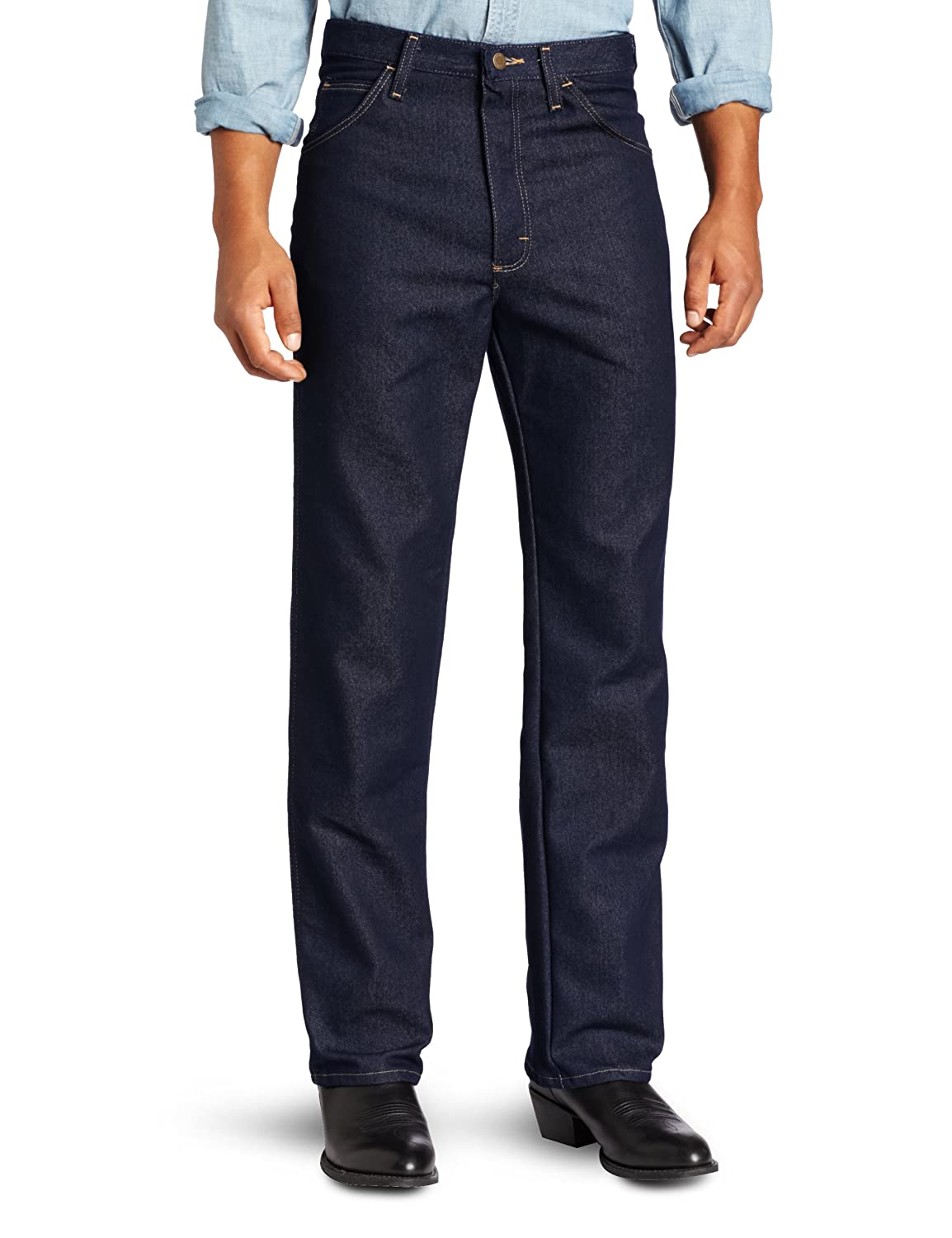 85fe90a0 Wrangler Men's Rugged Wear Regular-Fit Stretch Jean: Amazon.co.uk: Clothing
