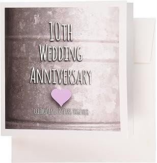 Amazon fax potato 10th anniversary greetings card happy tin 3drose 10th wedding anniversary gift tin celebrating 10 years together tenth anniversaries greeting m4hsunfo