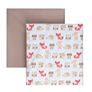 """Tadpoles Microfiber Fitted Crib Sheets – Baby Crib Mattress Sheets (2-Piece, 52"""" x 28"""" x 8"""", Woodland Creatures Pattern in Multi colors)"""