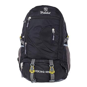 8f1dd16d2b2d HOT SHOT Men's and Women's 50 L Waterproof Travel Backpack (Black ...