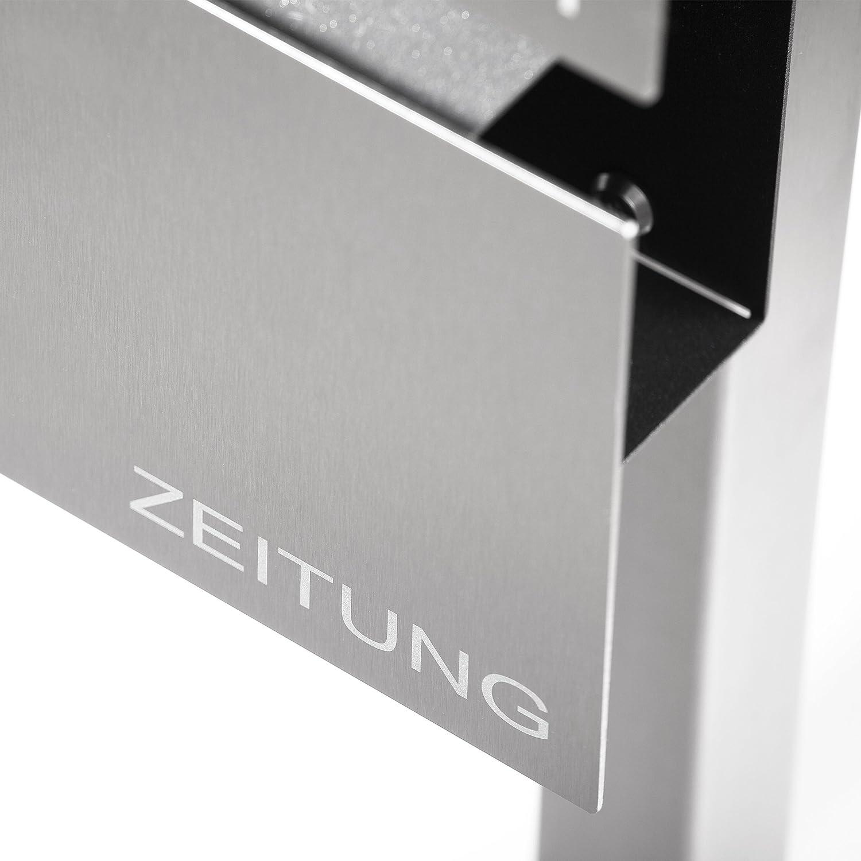 zed Briefkasten Edelstahl freistehend: Amazon.de: Baumarkt