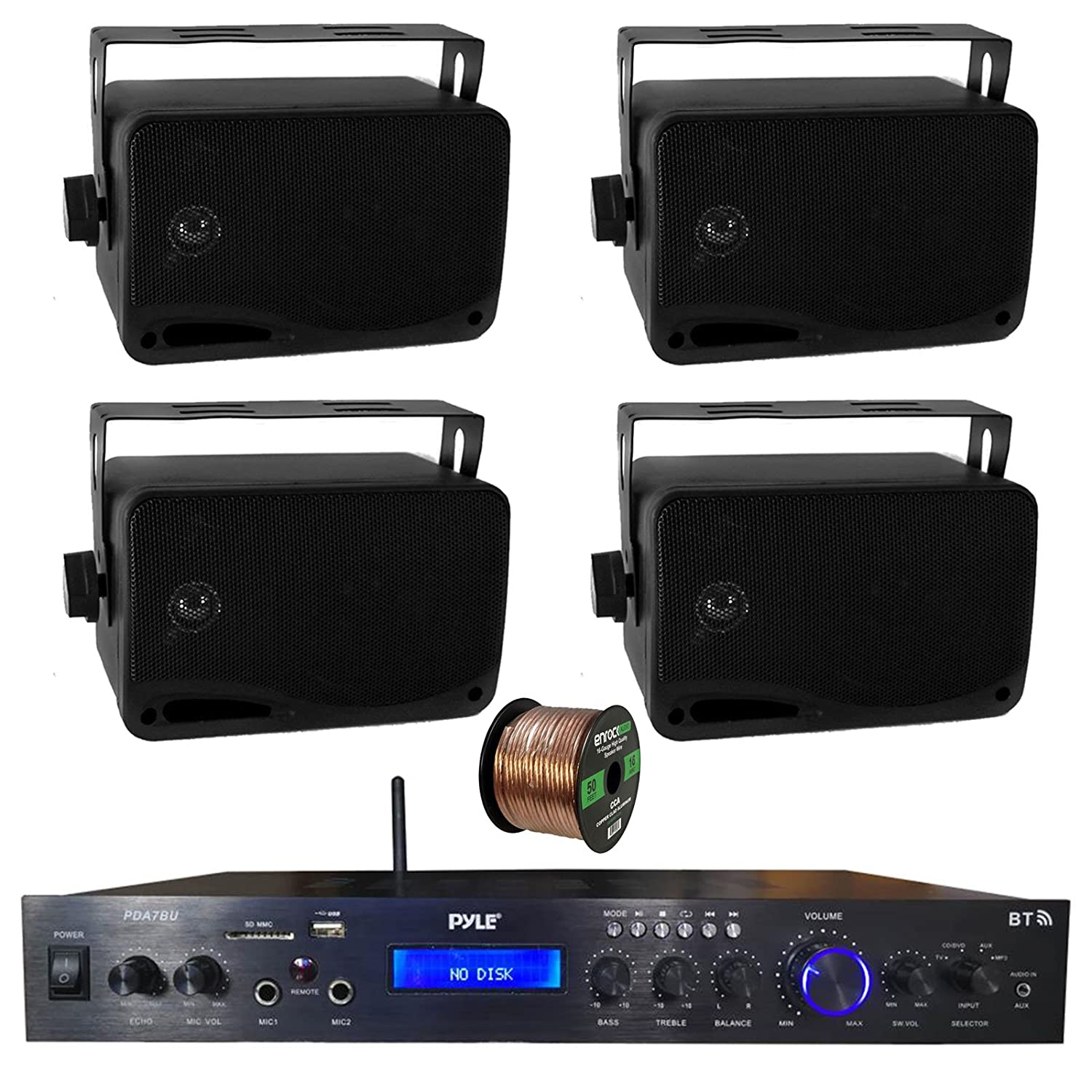 Awesome Amazon Com Pyle Home Theater Amplifier Audio Bluetooth Mp3 Download Free Architecture Designs Grimeyleaguecom