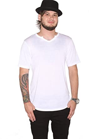 0f7b1a328cee38 Mission Clothing Notched V Neck Shirt White at Amazon Men s Clothing ...