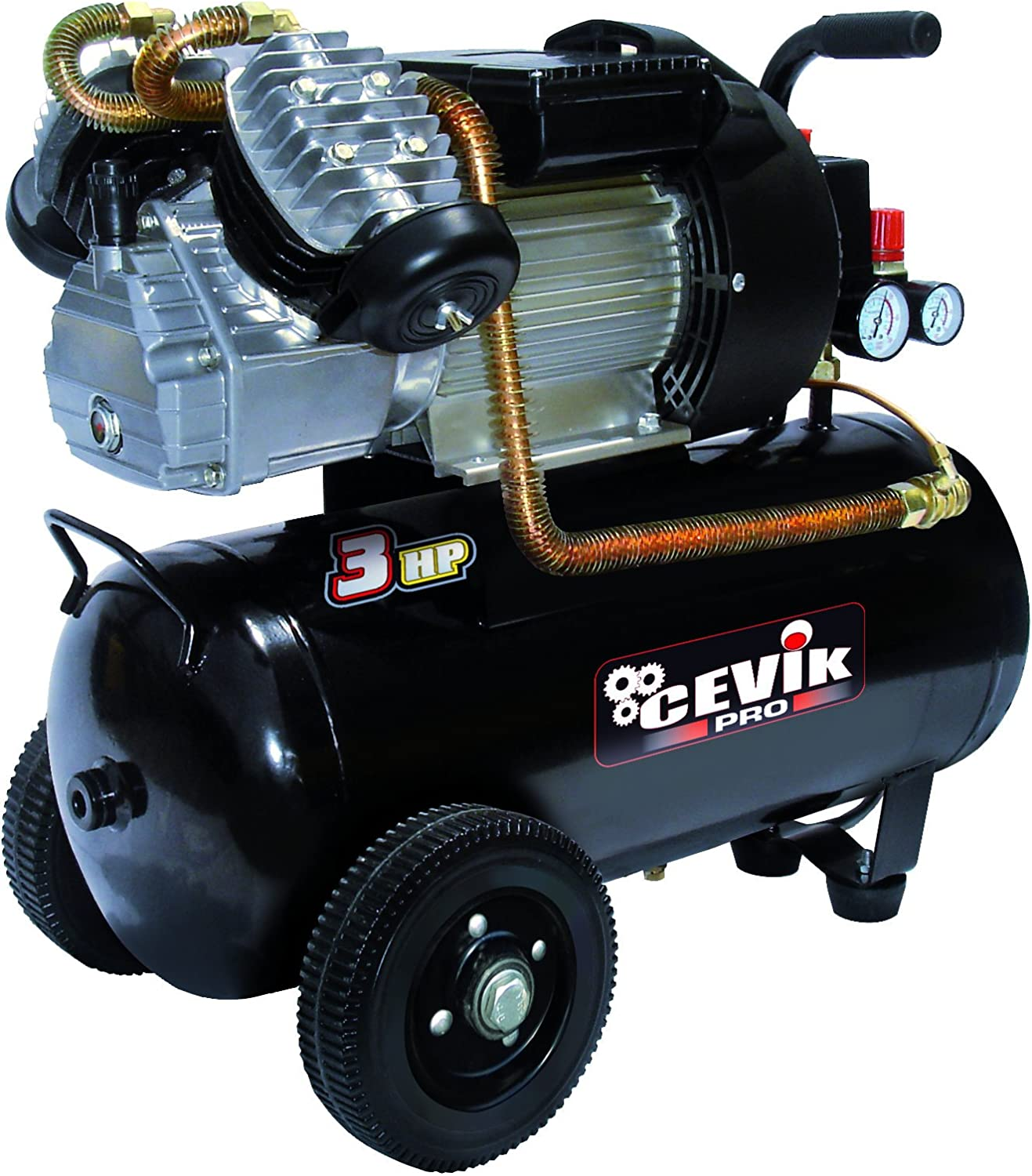 Cevik Pro 50Vx - Compresor 3HP 50L: Amazon.es: Bricolaje y ...