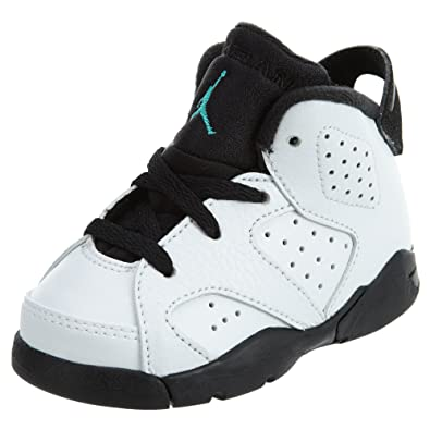 buy online 39e9a 8f1e4 Nike Jordan Retro 6 Hyper Jade Infant Toddler White Hyper Jade Black 384667-