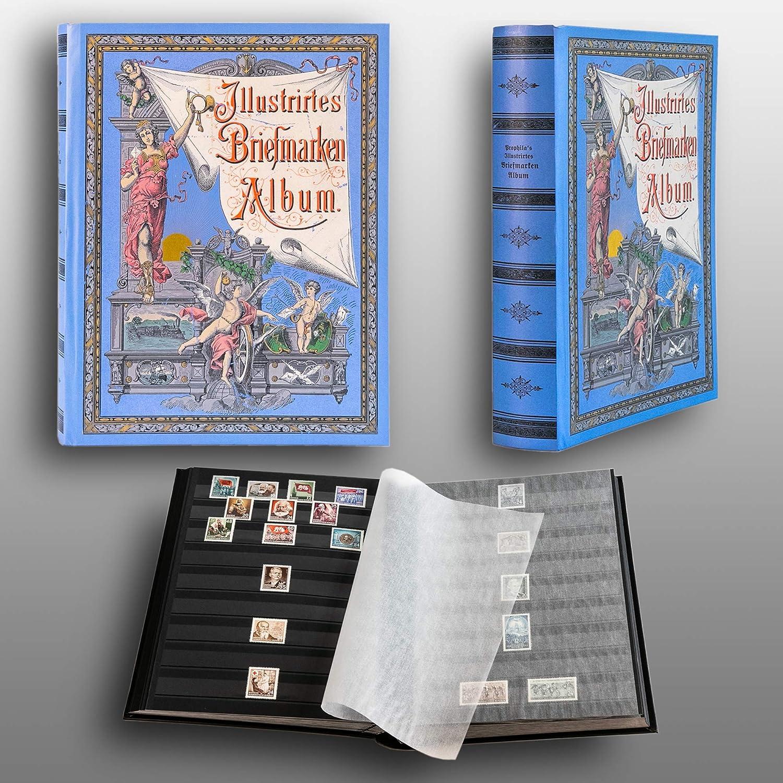 couv. Brun Leuchtturm Album pour Timbres int/érieur Blanc 60 Pages