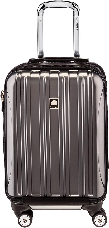 DELSEY Paris Helium Aero Hardside Expandable Luggage with Spinner Wheels, Titanium Silver