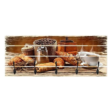 Bilderwelten Perchero de Madera - Breakfast Table - Ganchos ...
